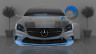 Mercedes-Benz-Coupe-Front-Fantasy-Crystal-Home-Fly-Car-2014-Blue-Neon-HD-Wallpapers-design-by-Tony-Kokhan-[www.el-tony.com]