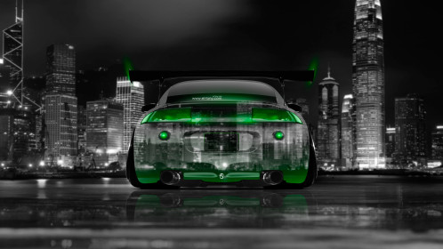 Mitsubishi-Eclipse-JDM-Tuning-Back-Crystal-City-Car-2014-Green-Neon-4K-Wallpapers-design-by-Tony-Kokhan-[www.el-tony.com]