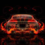 Mitsubishi Eclipse JDM Tuning Back Fire Car 2014