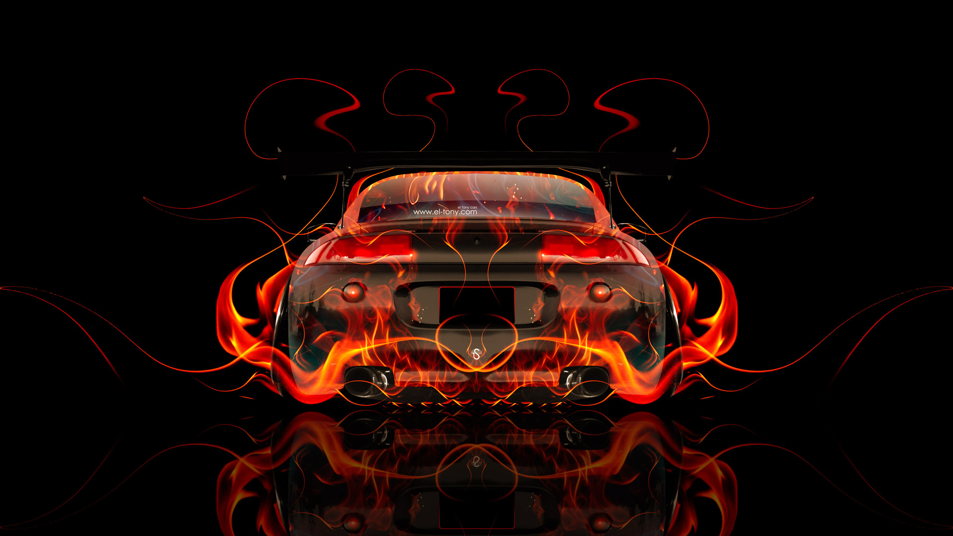 Exceptionnel Mitsubishi Eclipse JDM Tuning Back Fire Car 2014