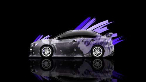 Mitsubishi-Lancer-Evolution-X-JDM-Side-Anime-Aerography-Car-2014-Art-Violet-Effects-4K-Wallpapers-design-by-Tony-Kokhan-[www.el-tony.com]