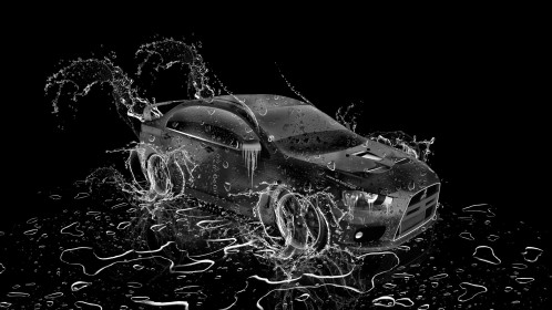 Mitsubishi-Lancer-Evolution-X-JDM-Water-Car-2014-Art-Black-White-Colors-HD-Wallpapers-design-by-Tony-Kokhan-[www.el-tony.com]