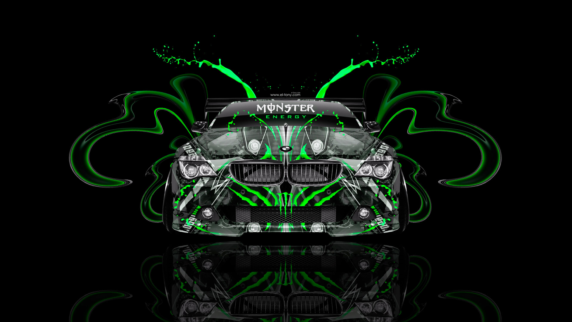 monster energy bmw m6 tuning front plastic car 2014