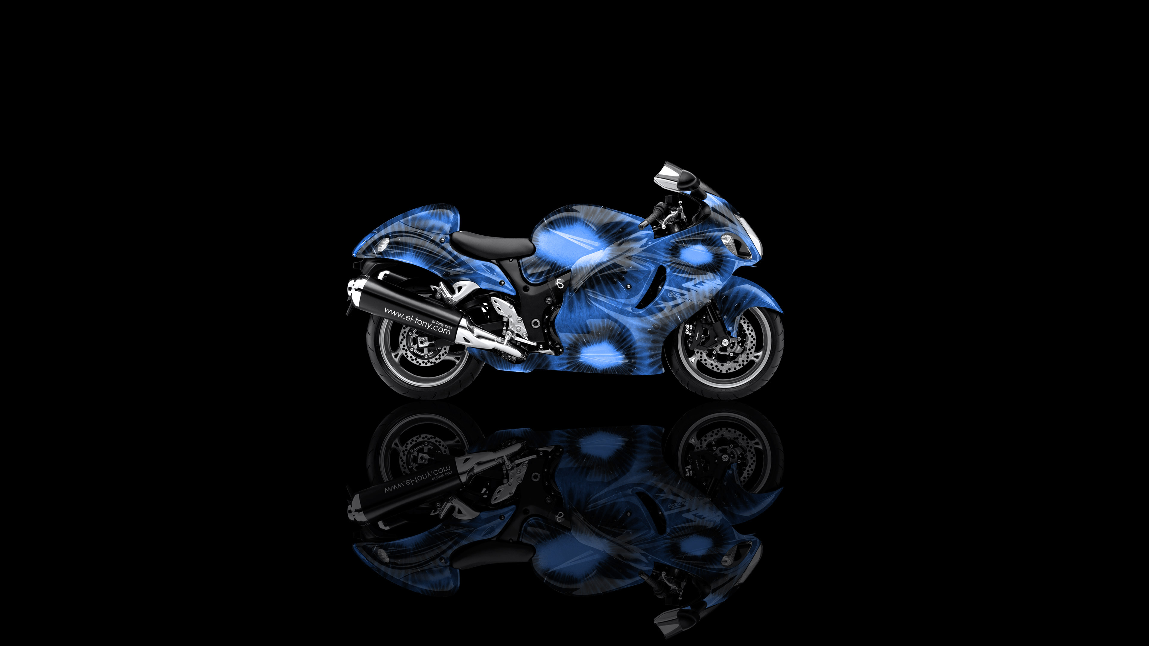 4k Suzuki Hayabusa Side Kiwi Aerography Bike 2014 El Tony