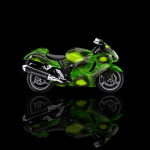 4K Suzuki Hayabusa Side Kiwi Aerography Bike 2014
