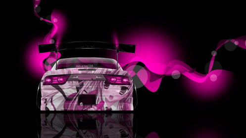 Nissan-180SX-JDM-Back-Anime-Girl-Aerography-Car-2014-Pink-Neon-Effects-4K-Wallpapers-design-by-Tony-Kokhan-[www.el-tony.com]