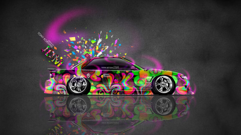 Nissan-Silvia-S13-JDM-Tuning-Side-Domo-Kun-Toy-Car-2014-Multicolors-HD-Wallpapers-design-by-Tony-Kokhan-[www.el-tony.com]