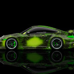 4K Porsche 911 GT2 Side Kiwi Aerography Car 2014