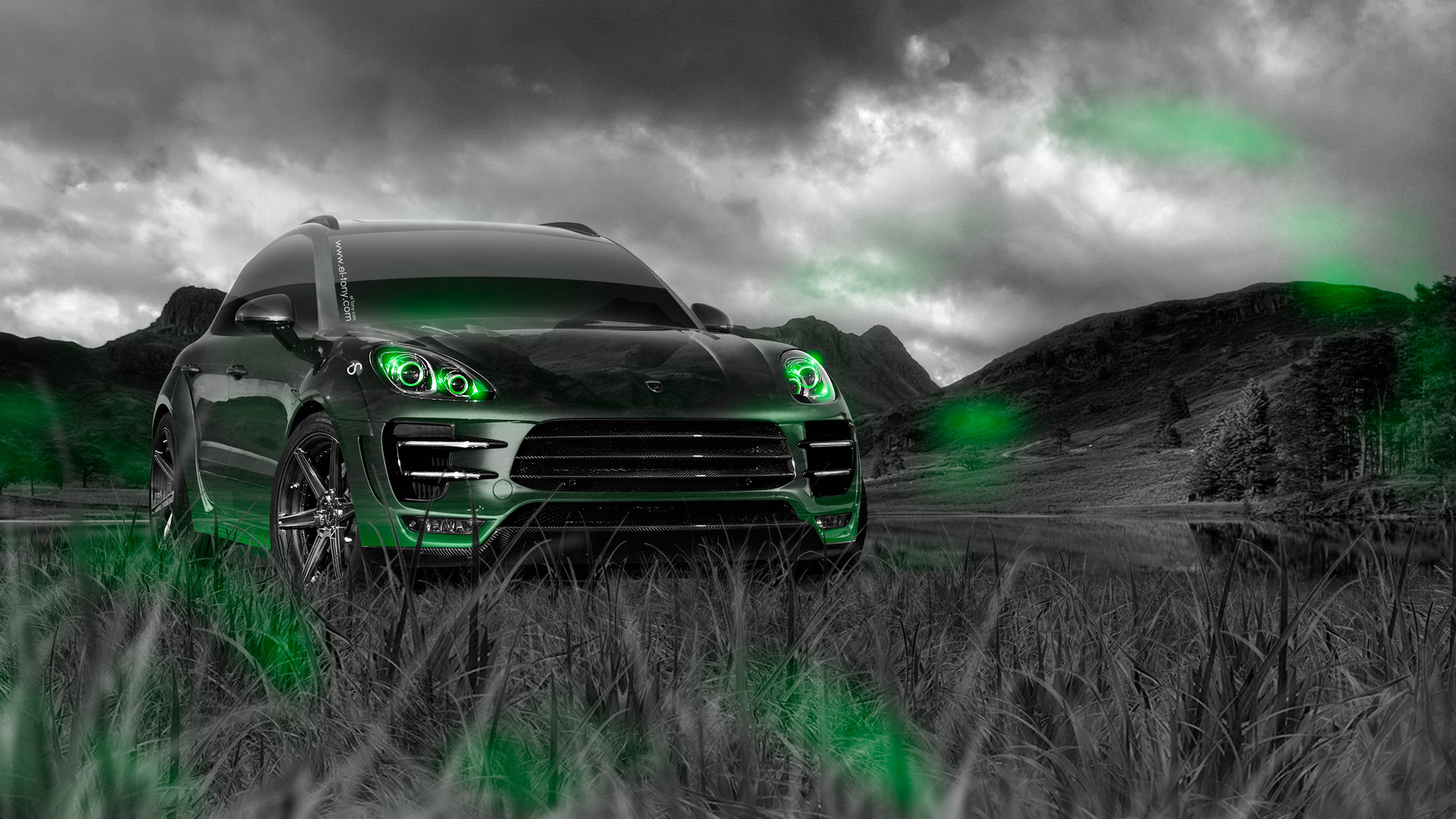 Beau ... Porsche Macan Crossover Crystal Nature Car 2014 Art  ...
