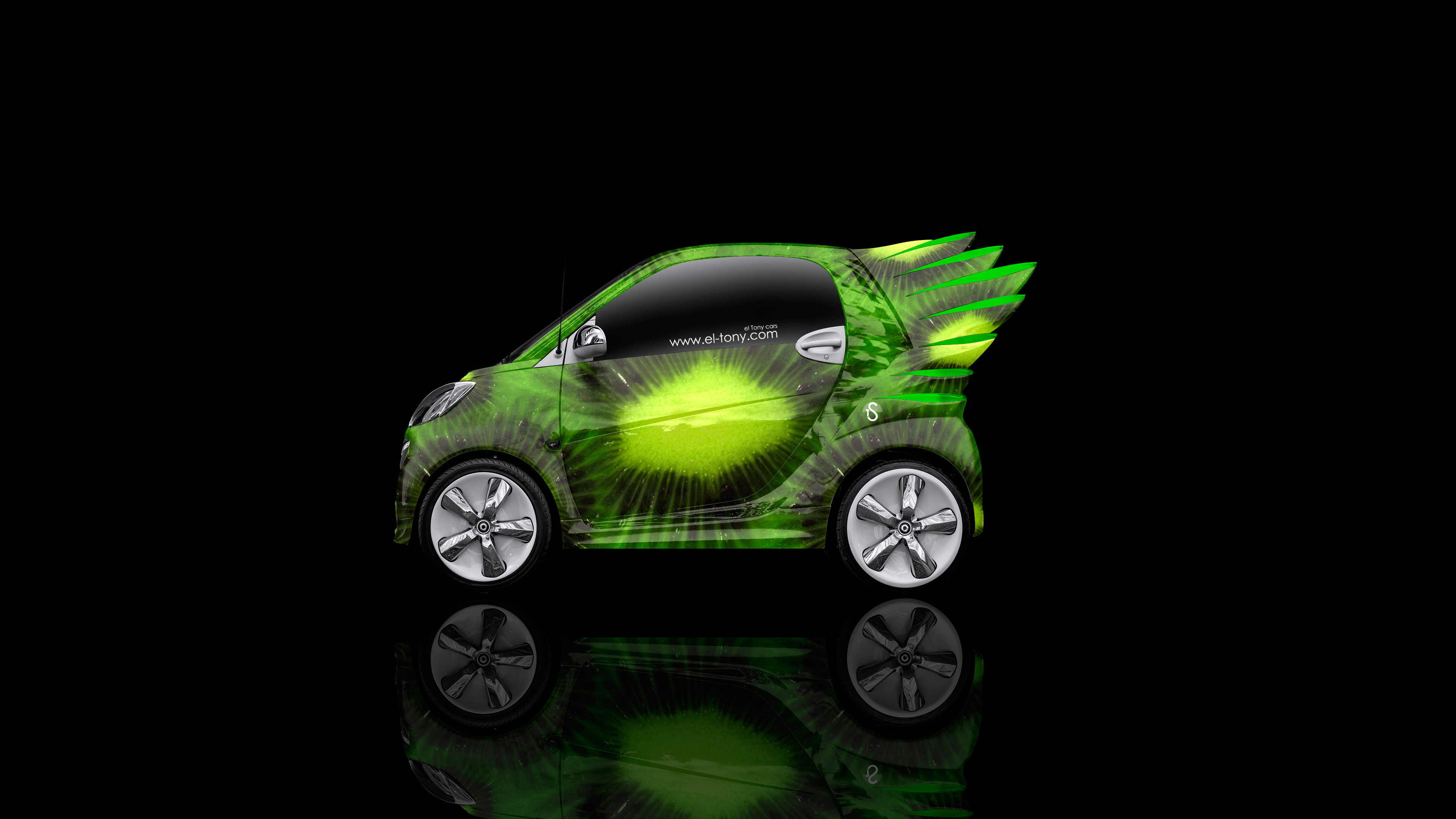 Attrayant Smart Electro Kiwi Aerography Car 2014 Green Colors