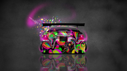 Toyota-Aristo-JDM-Tuning-Back-Domo-Kun-Toy-Car-2014-Multicolors-HD-Wallpapers-design-by-Tony-Kokhan-[www.el-tony.com]