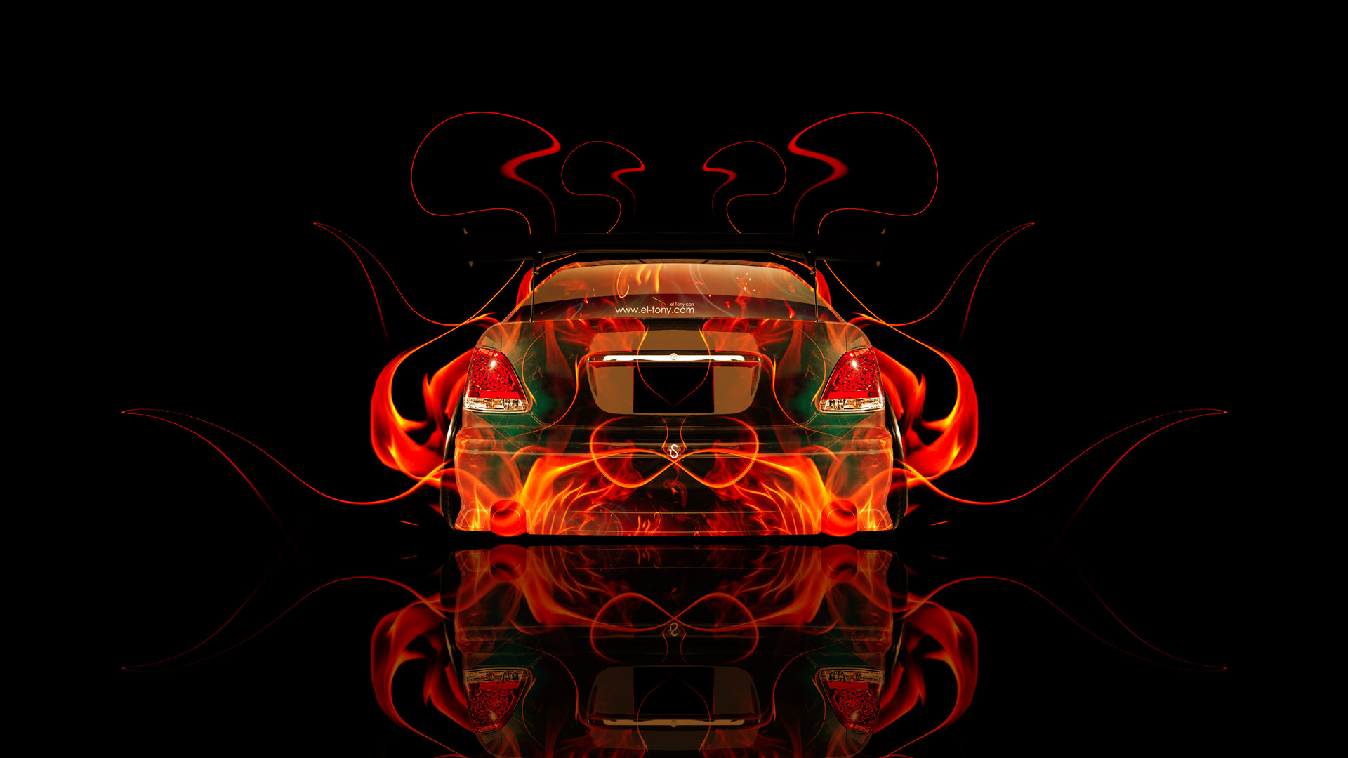 Toyota Aristo JDM Tuning Back Fire Abstract Car