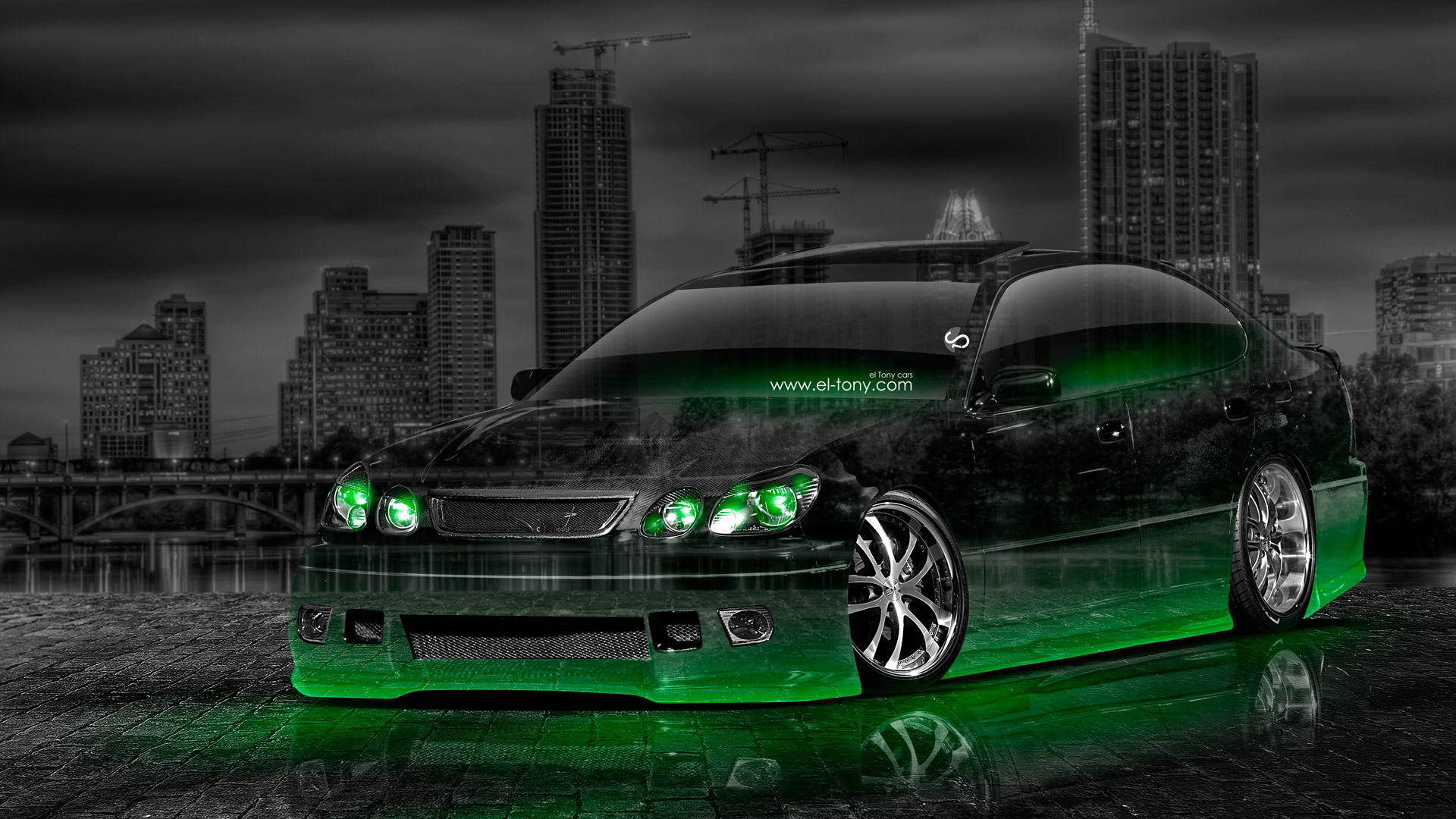 Nissan Skyline Gtr R34 Back Jdm Crystal City Car 2014 El Tony Toyota Aristo  Jdm Tuning