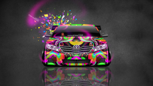 Toyota-Camry-JDM-Tuning-Front-Domo-Kun-Toy-Car-2014-Multicolors-HD-Wallpapers-design-by-Tony-Kokhan-[www.el-tony.com]
