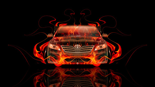 Toyota-Camry-JDM-Tuning-Front-Fire-Abstract-Car-2014-HD-Wallpapers-design-by-Tony-Kokhan-[www.el-tony.com]
