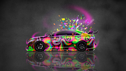 Toyota-Camry-JDM-Tuning-Side-Domo-Kun-Toy-Car-2014-Multicolors-HD-Wallpapers-design-by-Tony-Kokhan-[www.el-tony.com]