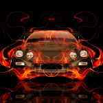 Toyota Celica JDM Tuning Front Fire Abstract Car 2014