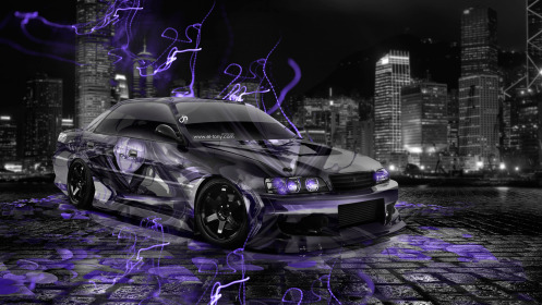 Toyota-Chaser-JZX100-JDM-Anime-Aerography-City-Car-2014-Art-Violet-Neon-Effects-HD-Wallpapers-design-by-Tony-Kokhan-[www.el-tony.com]