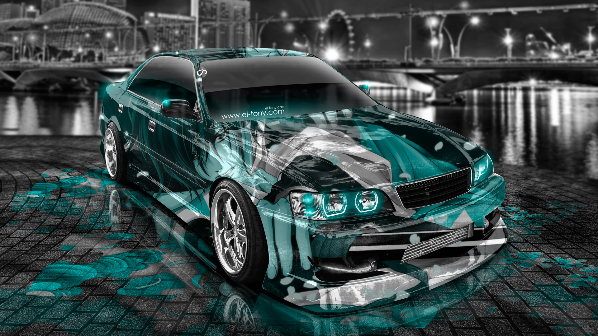 Perfect Toyota Chaser JZX100 JDM Tuning Anime Aerography City .