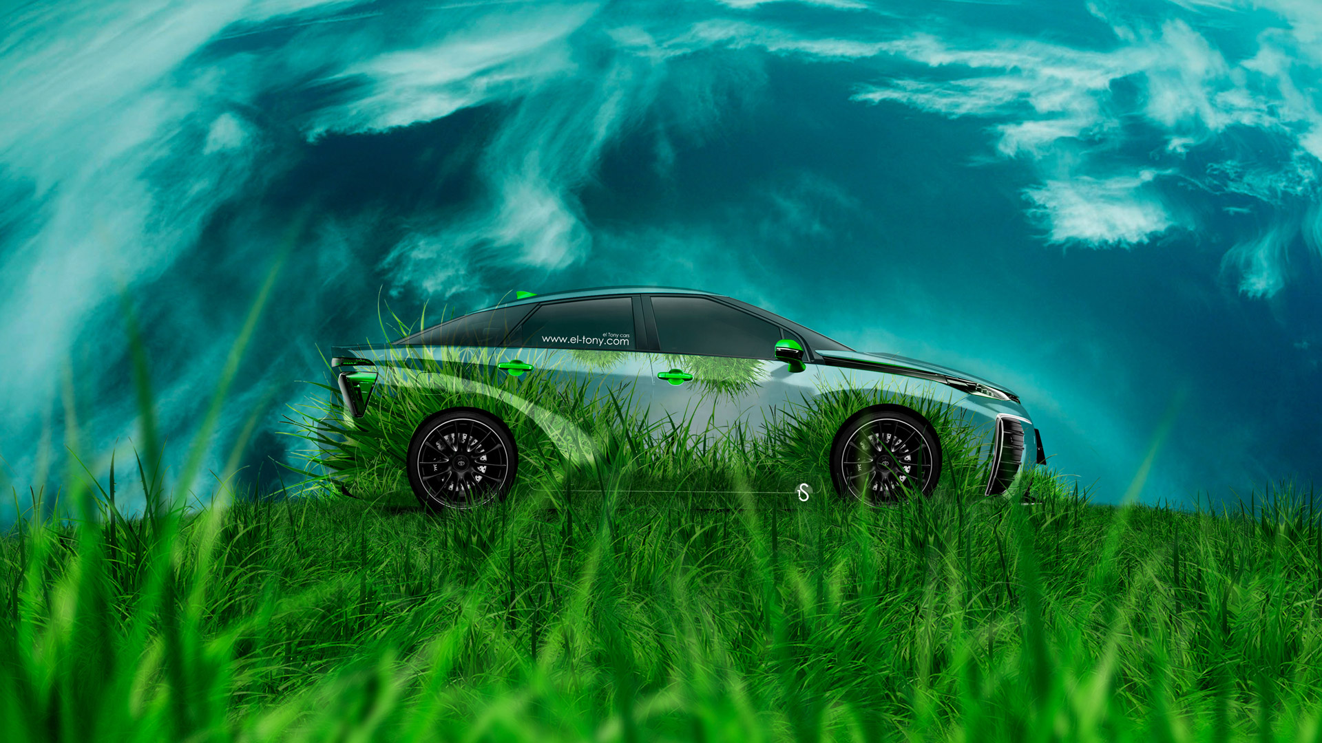Toyota-FCV-Tuning-Side-Grass-Style-Crystal-Nature-2014-Art-HD-Wallpapers-design-by-Tony-Kokhan-[www.el-tony.com]