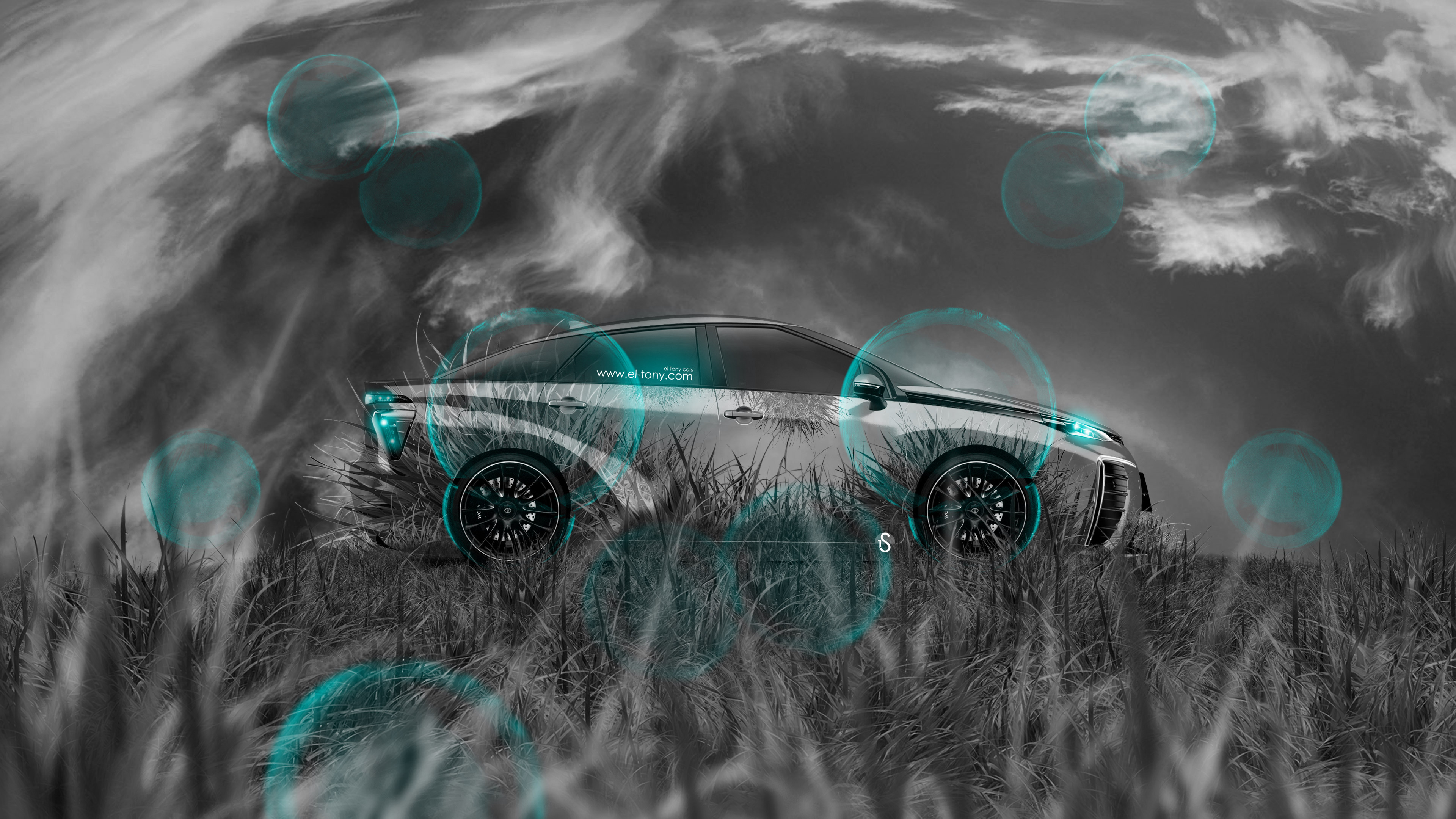 Amazing ... Toyota FCV Tuning Side Grass Style Crystal Nature  · Toyota Prius  Hybrid Crystal Nature Car 2014
