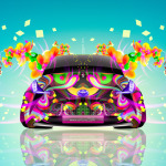 Toyota FT-BH Front Fantasy Flowers Butterfly Car 2014