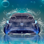 Toyota FT-BH Hybrid Front Under Water Car 2014