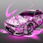 Toyota Mark2 JZX90 JDM Anime Girl Aerography Car 2014