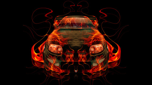 Toyota-Supra-JDM-FrontUp-Fire-Abstract-Car-2014-HD-Wallpapers-design-by-Tony-Kokhan-[www.el-tony.com]