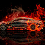 BMW M6 Hamann Tuning Side Fire Abstract Car 2015