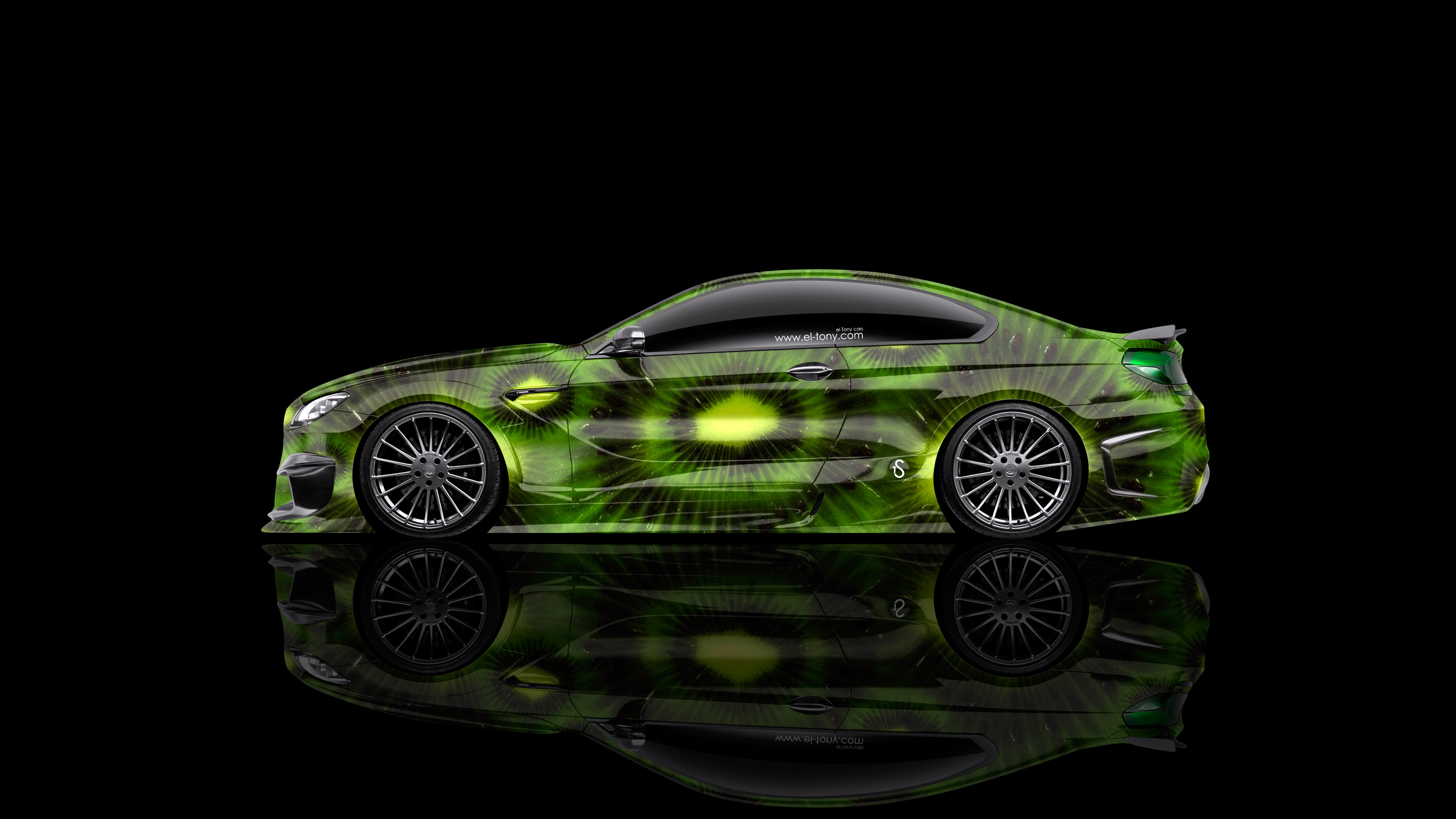 Charmant BMW M6 Hamann Tuning Side Kiwi Aerography Car