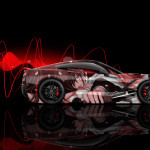 4K Chevrolet Corvette C7 Side Anime Aerography Car 2015