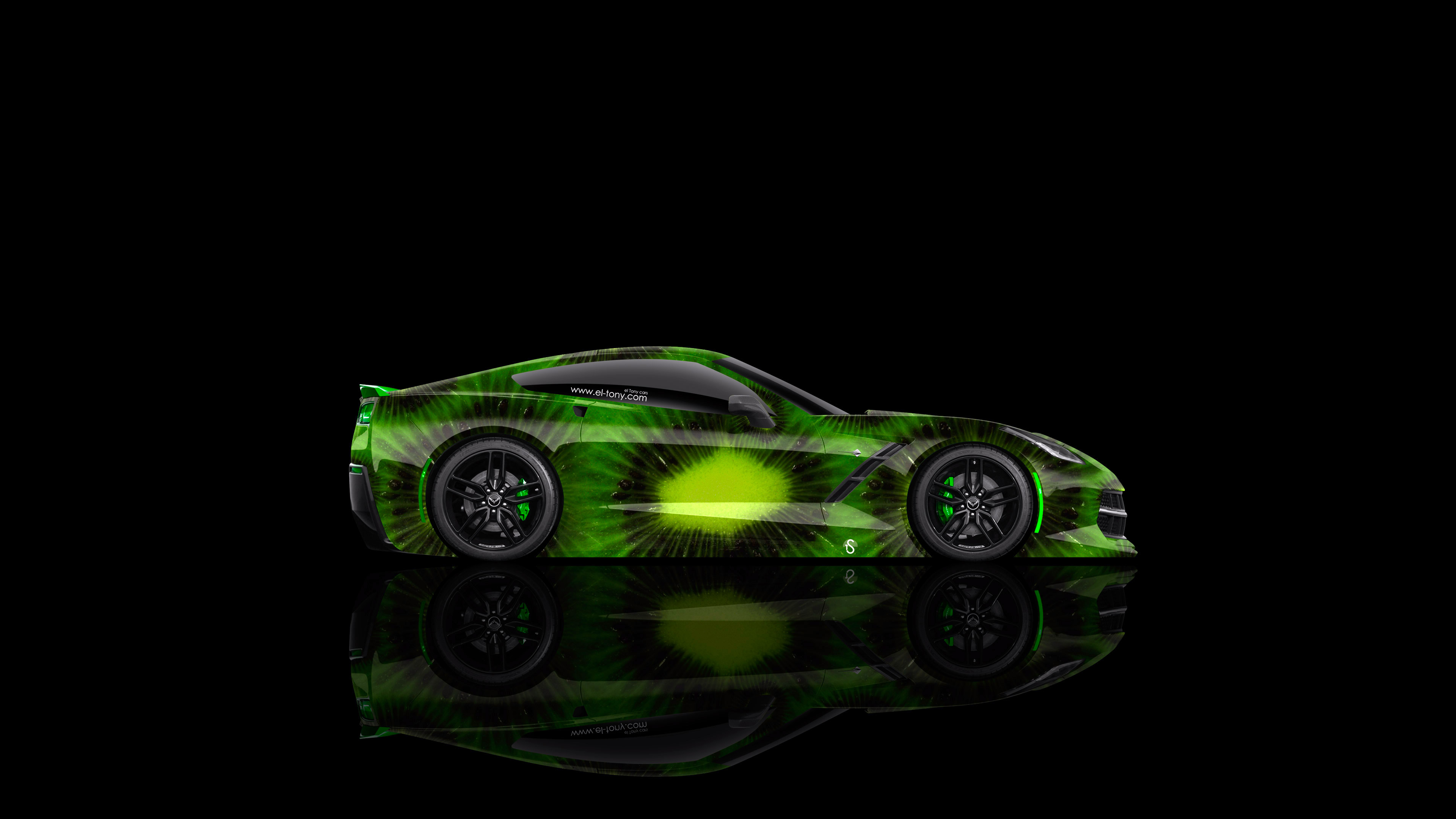 Chevrolet Corvette Stingray C7 Side Kiwi Aerography Car