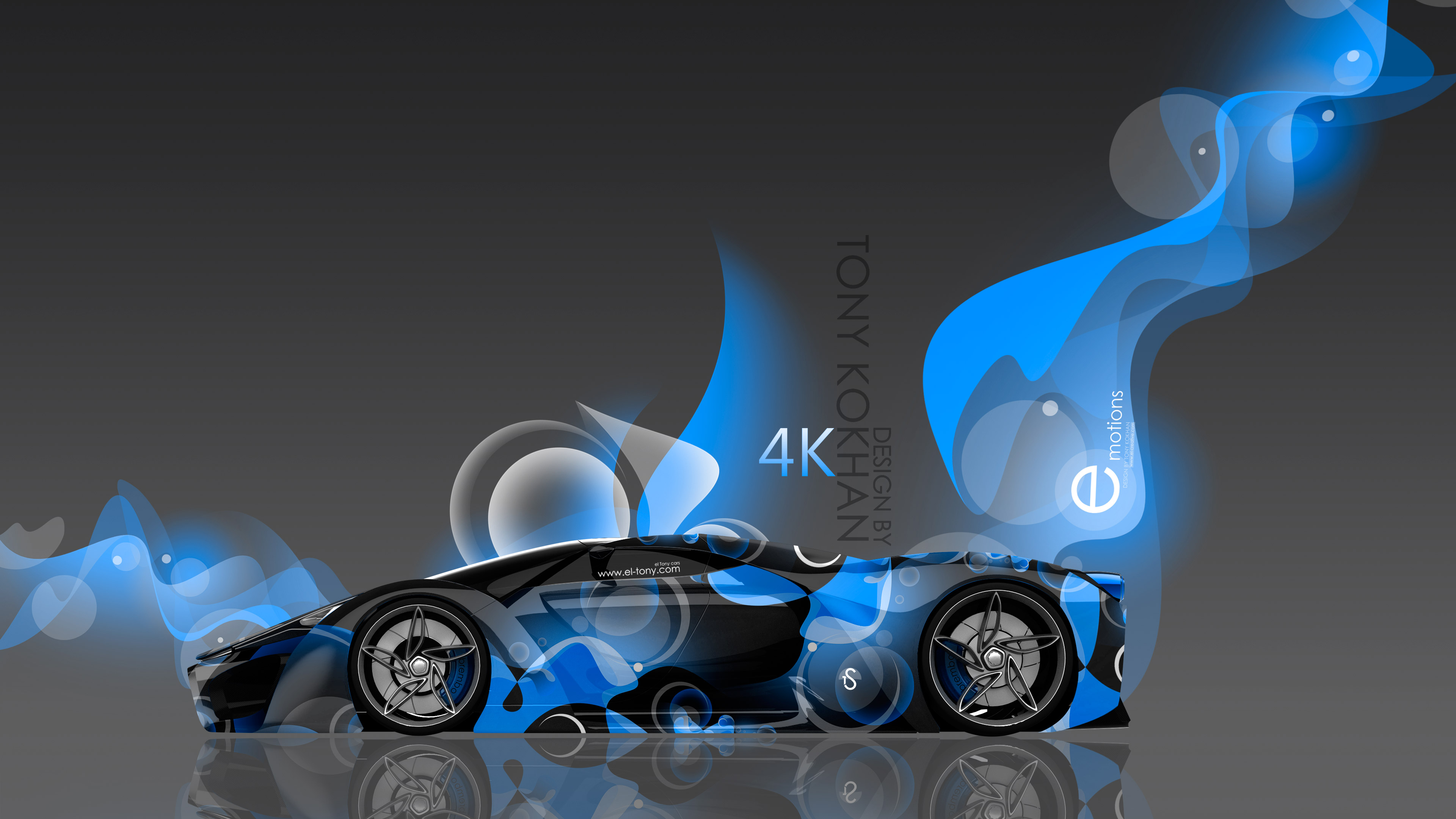 4k Ferrari F80 Side Super Abstract Aerography Car 2015