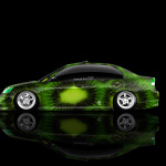 4K Honda Civic JDM Side Kiwi Aerography Car 2015