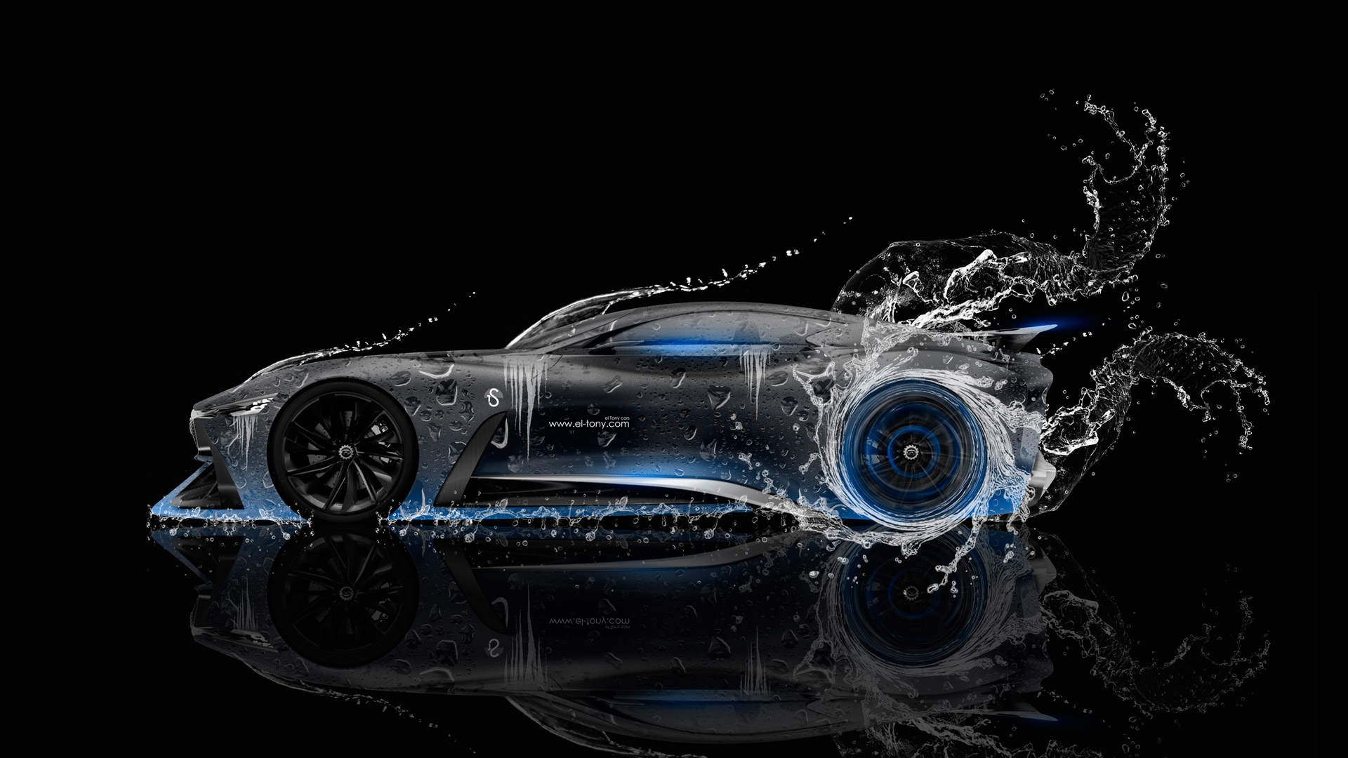Superb ... Infiniti Vision Gran Turismo Concept Side Water Car 2015