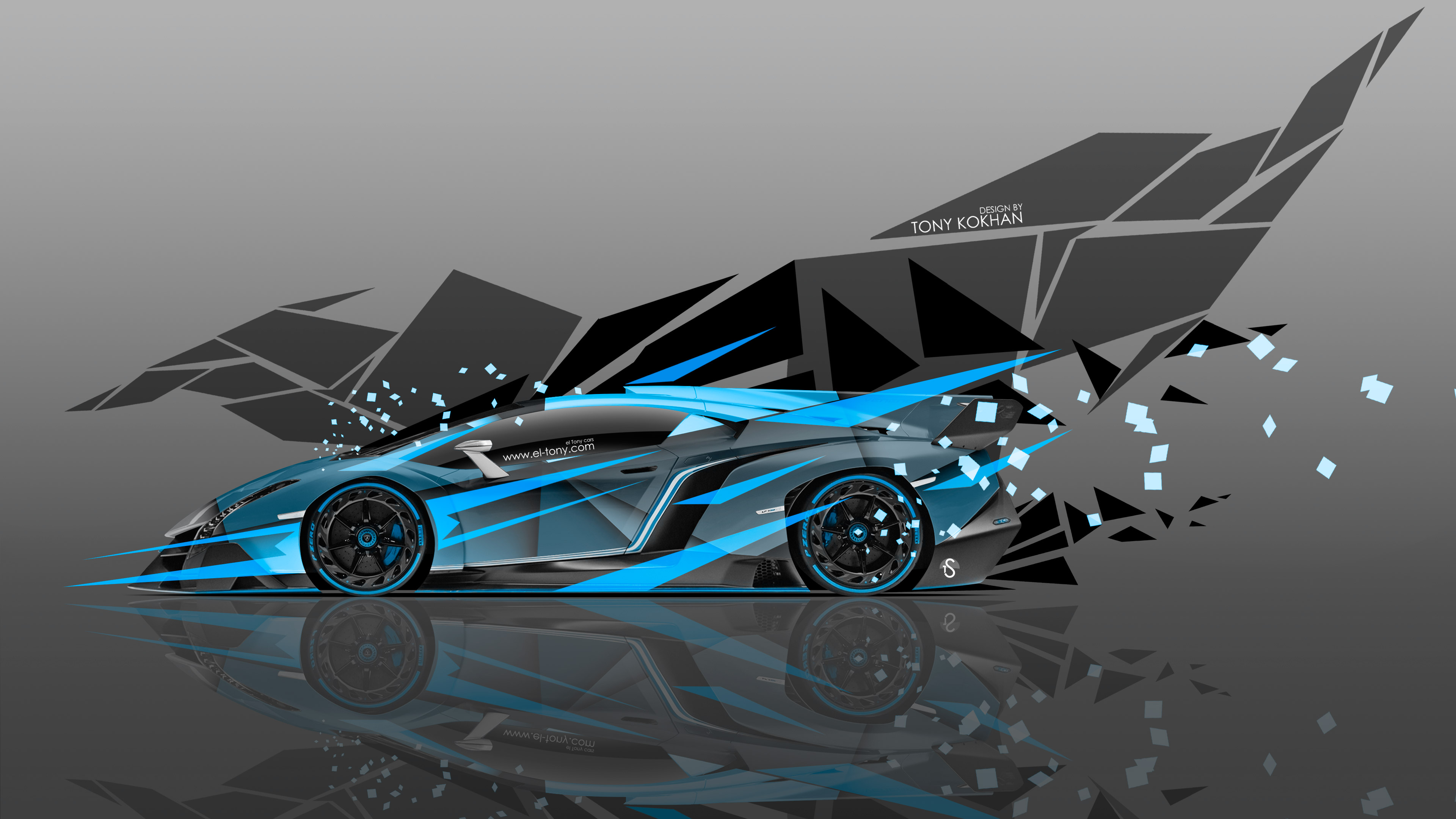 Charming ... Lamborghini Veneno Side Super Abstract Transformer Aerography Car  ...