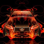 Lexus GS350 F-Sport FrontUp Fire Car 2015