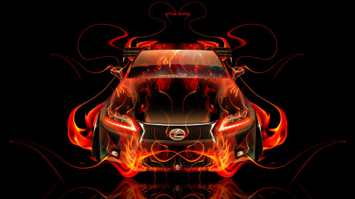 Lexus-GS350-F-Sport-FrontUp-Fire-Abstract-Car-2015-HD-Wallpapers-design-by-Tony-Kokhan-[www.el-tony.com]