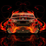 Mazda 6 JDM Tuning Back Fire Abstract Car 2015