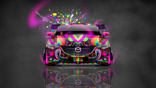 Mazda-6-JDM-Tuning-Front-Domo-Kun-Toy-Car-2015-Multicolors-HD-Wallpapers-design-by-Tony-Kokhan-[www.el-tony.com]