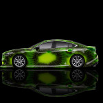 4K Mazda 6 JDM Tuning Side Kiwi Aerography Car 2015