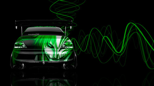 Mitsubishi-Lancer-Evolution-JDM-Back-Anime-Bleach-Aerography-Car-2015-Green-Neon-Effects-4K-Wallpapers-design-by-Tony-Kokhan-[www.el-tony.com]