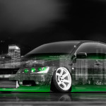 4K Mitsubishi Lancer Evolution JDM Tuning Crystal City Car 2015