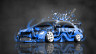 Mitsubishi-Lancer-Evolution-JDM-Tuning-Domo-Kun-Toy-Car-2015-Blue-Colors-3D-HD-Wallpapers-design-by-Tony-Kokhan-[www.el-tony.com]
