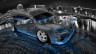 Mitsubishi-Lancer-Evolution-X-JDM-Tuning-Crystal-City-Car-2015-Fish-Eye-View-Blue-Neon-HD-Wallpapers-design-by-Tony-Kokhan-[www.el-tony.com]