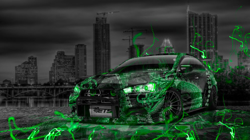 Mitsubishi-Lancer-Evolution-X-JDM-Tuning-Dragon-Aerography-City-Car-2015-Art-Style-Green-Neon-Effects-HD-Wallpapers-design-by-Tony-Kokhan-[www.el-tony.com]
