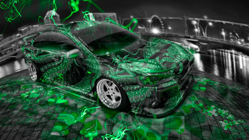 Mitsubishi-Lancer-Evolution-X-JDM-Tuning-Dragon-Aerography-City-Car-2015-Green-Neon-Effects-HD-Wallpapers-design-by-Tony-Kokhan-[www.el-tony.com]