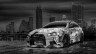 Mitsubishi-Lancer-Evolution-X-Tuning-JDM-Anime-Girl-Aerography-City-Car-2015-Black-White-Colors-HD-Wallpapers-design-by-Tony-Kokhan-[www.el-tony.com]