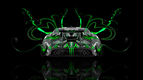 Monster-Energy-Jaguar-F-Type-Back-Plastic-Acid-Car-2015-Green-Colors-HD-Wallpapers-design-by-Tony-Kokhan-[www.el-tony.com]